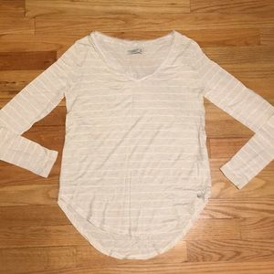 Abercrombie and Fitch long sleeved striped shirt